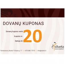 20 EUR vertės SILUETA dovanų kuponas