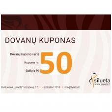 50 EUR vertės SILUETA dovanų kuponas