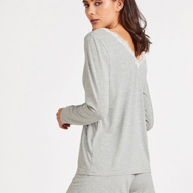 Aubade Sweet Bliss pižamos marškinėliai ilgomis rankovėmis 2