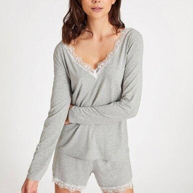 Aubade Sweet Bliss pižamos marškinėliai ilgomis rankovėmis 3