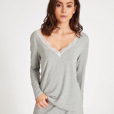 Aubade Sweet Bliss pižamos marškinėliai ilgomis rankovėmis