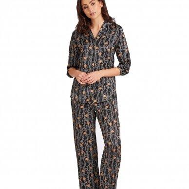 Aubade Toi Mon Amour šilkiniai pižamos marškiniai ilgomis rankovėmis 2