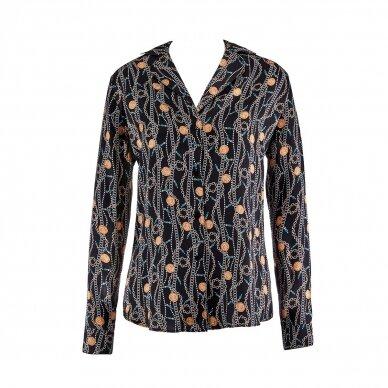 Aubade Toi Mon Amour šilkiniai pižamos marškiniai ilgomis rankovėmis 5