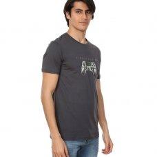 JOHN FRANK vyriški marškinėliai trumpomis rankovėmis SINGLE PLAYER
