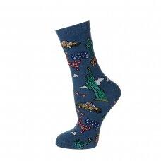 Linksmos moteriškos kojinės NEW YORK