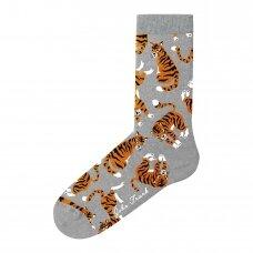 Linksmos moteriškos kojinės TIGER