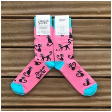 Black cat socks for Women