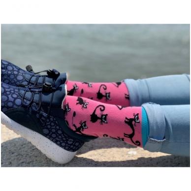 """Moteriškos kojinės """"Juodos katės"""" 4"""