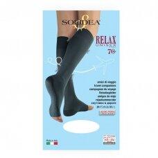 SOLIDEA Relax Unisex 70 den Punta Aperta компрессионные гольфы с открытым носком