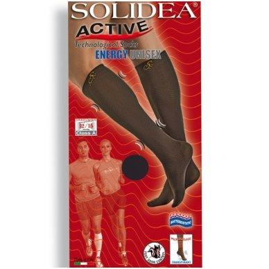 SOLIDEA Active Energy Unisex sportinės kompresinės kojinės iki kelių 2