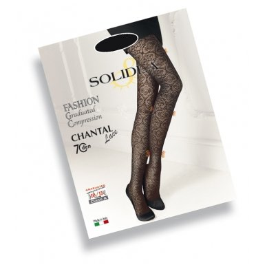 SOLIDEA Chantal 70 den lace compression tights 2