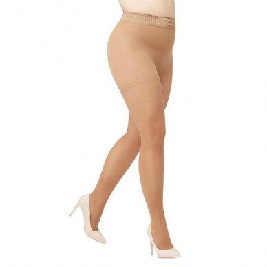 SOLIDEA Curvy 140 sheer kompresinės pėdkelnės apkūnesnėms moterims