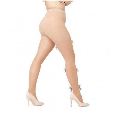 SOLIDEA Curvy 70 denų kompresinės pėdkelnės apkūnesnėms moterims