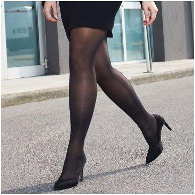 SOLIDEA Curvy 70 denų kompresinės pėdkelnės apkūnesnėms moterims 5