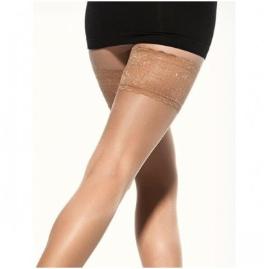 SOLIDEA Marilyn 140 Sheer Ccl1 compression hold-up stockings 3
