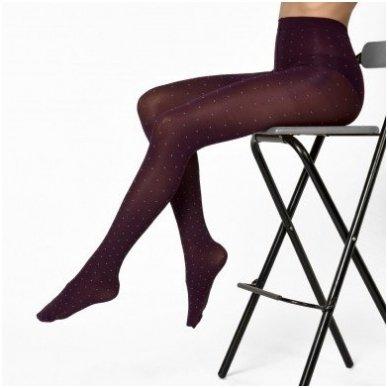 SOLIDEA Marlene pois 70 den kompresinės pėdkelnės su taškeliais