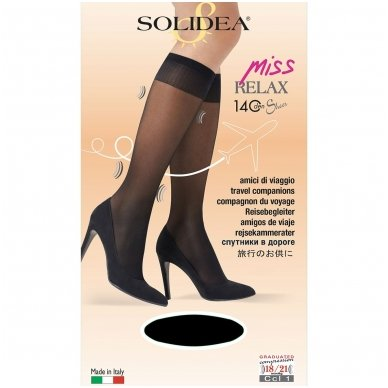 SOLIDEA Miss relax 140 sheer Ccl1 sieviešu kompresijas pusgarās zeķes 3