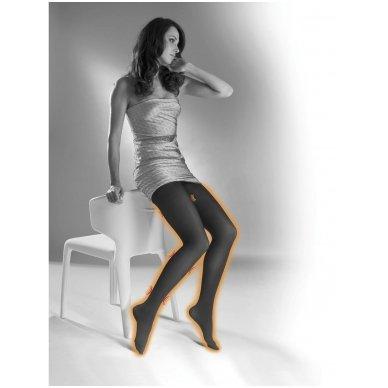 SOLIDEA Red Wellness 140 den kompresinės matinės pėdkelnės su infraraudonųjų spindulių poveikiu 3