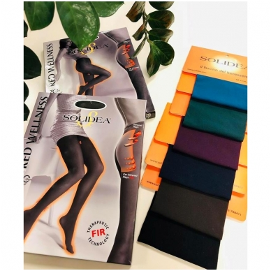 SOLIDEA Red Wellness 70 den compression tights with Infrared Ray yarns 5