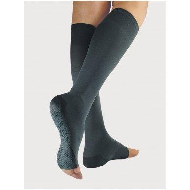 SOLIDEA Relax Unisex 140 den Punta aperta compression knee highs 2
