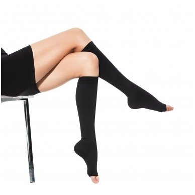 SOLIDEA Relax Unisex 140 den Punta aperta compression knee highs 3
