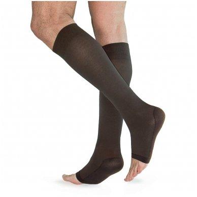 SOLIDEA Relax Unisex 140 den Punta aperta compression knee highs