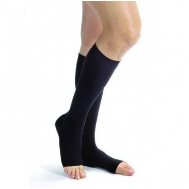 SOLIDEA Relax Unisex 140 den Punta aperta compression knee highs 4