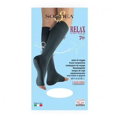 SOLIDEA Relax Unisex 70 den Punta Aperta kompresijas pusgarās zeķes bez pirkstu daļas 3