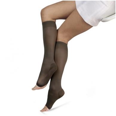 SOLIDEA Relax Unisex 70 den Punta Aperta kompresinės kojinės iki kelių