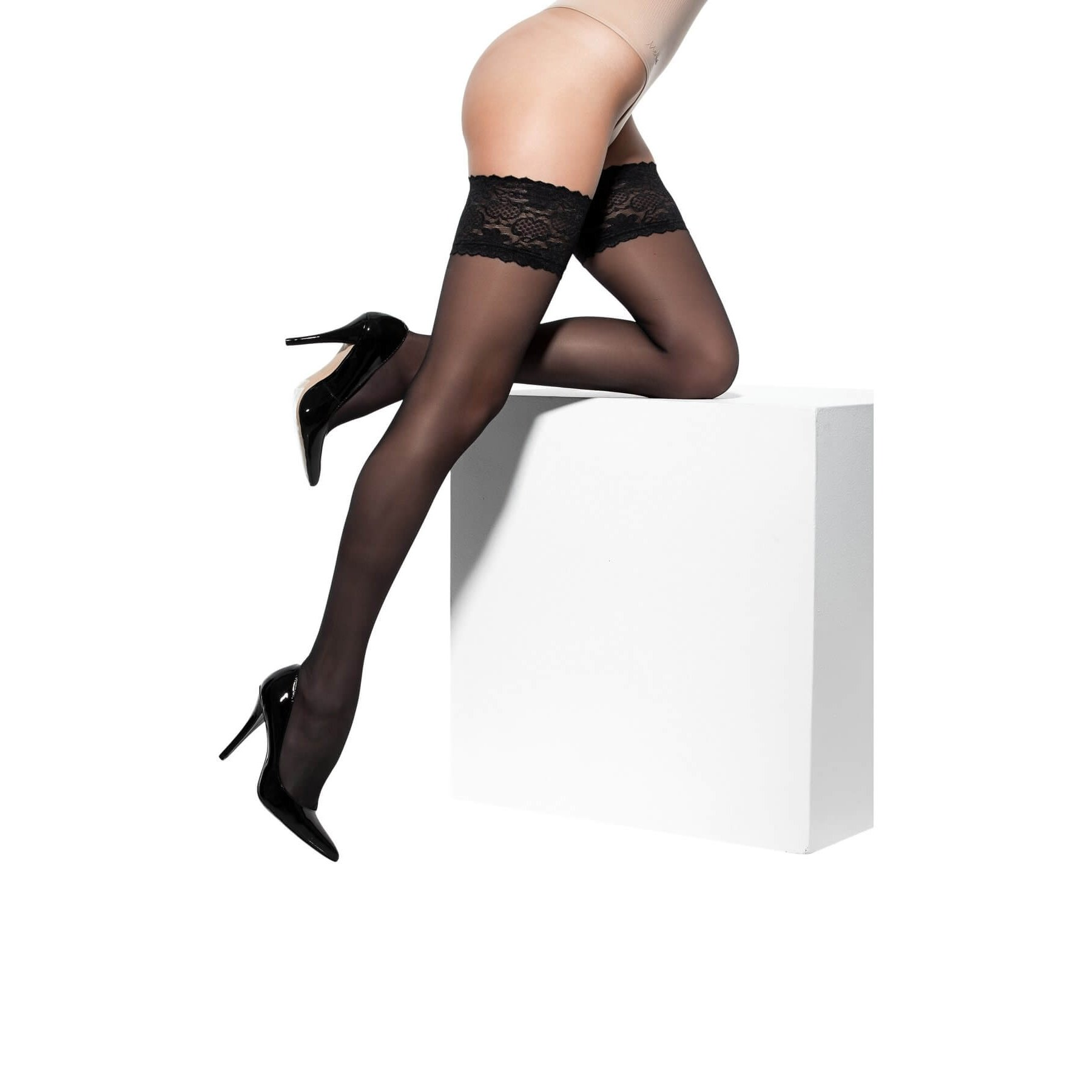 9931a4459b2 SOLIDEA Marilyn 70 Sheer compression hold-up stockings