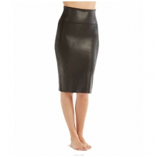 SPANX Wow faux leather shaping pencil skirt