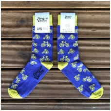 Bike socks — Violet Funny Socks for Men by Penguin socks