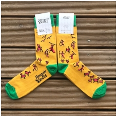 Stone Age socks — Yellow Funny Socks for Men