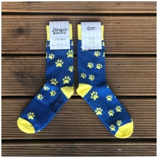 Dog footprints socks for women