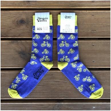 Bike socks — Violet Funny Socks for Men by Penguin socks