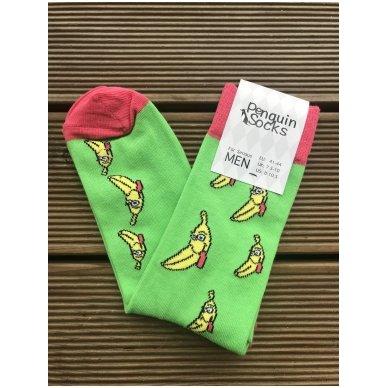 """Vyriškos kojinės """"Pakvaišę bananai"""""""